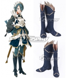 Fire Emblem Fates IF Setsuna Navy Blue Shoes Cosplay Boots