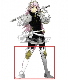 Fire Emblem Fates Soleil White Shoes Cosplay Boots