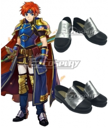 Fire Emblem Heroes Roy Silver Shoes Cosplay Boots