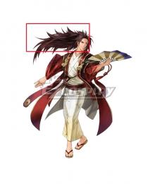 Fire Emblem Heroes Ryoma Dancing Samurai Brown Cosplay Wig