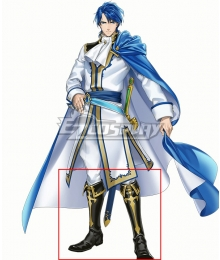 Fire Emblem Heroes Sigurd Black Shoes Cosplay Boots