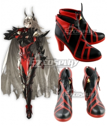 Fire Emblem Heroes Thrasir Black Red Shoes