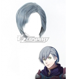 Fire Emblem: Three Houses 5 Years Ashe Timeskip Grey Blue Cosplay Wig