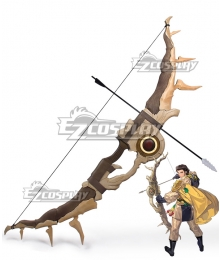Fire Emblem: Three Houses 5 Years Claude Von Regan Timeskip Bow Arrow Cosplay Weapon Prop