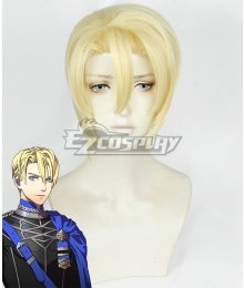 Fire Emblem: Three Houses Dimitri Alexandre Bladud Light Golden Cosplay Wig