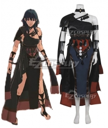 Fire Emblem: Three Houses Female Byleth DLC Black Cosplay Costume