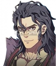 Fire Emblem Three Houses indered Shadows Balthus Time Skip Black Cosplay Wig