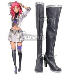 Fire Emblem: Three Houses indered Shadows Hapi Grey Shoes Cosplay Boots