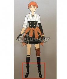 Fire Emblem: Three Houses Leonie Black Shoes Cosplay Boots
