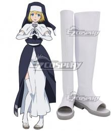 Fire Force Enen no Shouboutai Iris White Shoes Cosplay Boot