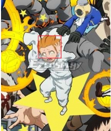 Fire Force Enen No Shouboutai Nataku Son Orange Cosplay Wig