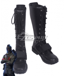 Fortnite Battle Royale Black Knight Black Shoes Cosplay Boots