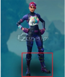 Fortnite Battle Royale Brite Bomber Purple Black Shoes Cosplay Boots