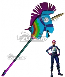 Fortnite Battle Royale Brite Bomber Llama Unicorn Pickaxe Staff Cosplay Weapon Prop