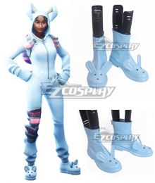 Fortnite Battle Royale Bunny Brawler White Cosplay Shoes