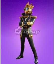 Fortnite Battle Royale DJ Yonder Golden Style Cosplay Costume