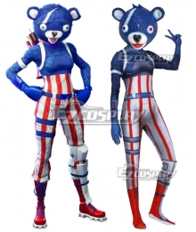 Fortnite Battle Royale Fireworks Team Leader Spandex Jumpsuit Halloween Cosplay Costume