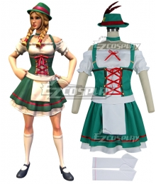 Fortnite Battle Royale Heidi Halloween Cosplay Costume-New Editon