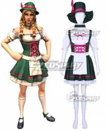 Fortnite Battle Royale Heidi Halloween Cosplay Costume