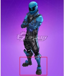 Fortnite Battle Royale Honor Guard Black Blue Cosplay Shoes