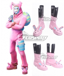 Fortnite Battle Royale Rabbit Raider Pink Cosplay Shoes