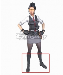 Fortnite Battle Royale Rook Black Grey Shoes Cosplay Boots