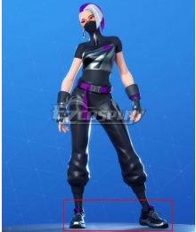 Fortnite Battle Royale Season 10 Catalyst Black Cosplay Shoes
