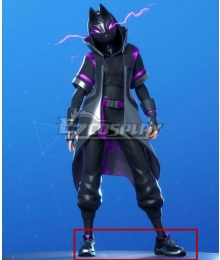 Fortnite Battle Royale Season 10 Catalyst Overcharged Style Black Cosplay Shoes