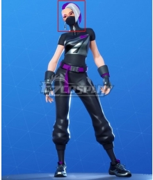 Fortnite Battle Royale Season 10 Catalyst Purple White Cosplay Wig
