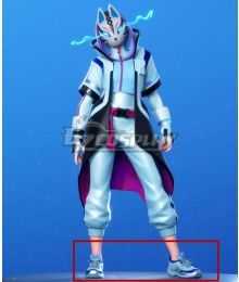 Fortnite Battle Royale Season 10 Catalyst Snowstorm Color Blue Cosplay Shoes
