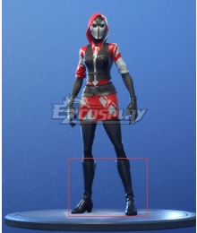 Fortnite Battle Royale The Ace Black Shoes Cosplay Boots