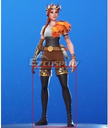 Fortnite Battle Royale The Autumn Queen Black Golden Shoes Cosplay Boots