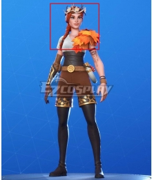 Fortnite Battle Royale The Autumn Queen Orange Cosplay Wig