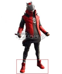 Fortnite Battle Royale X-Lord Storm Scavenger Set Red Cosplay Shoes