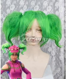 Fortnite Battle Royale Zoey Green Cosplay Wig - A Edition