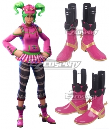 Fortnite Battle Royale Zoey Purple Shoes Cosplay Boots