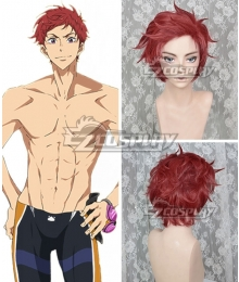 Free! -Dive to the Future- Asahi Shiina Red Cosplay Wig