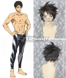Free! -Dive to the Future- Sosuke Yamazaki Black Cosplay Wig