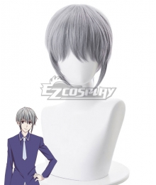 Fruits Basket Yuki Soma Grey Cosplay Wig - 490B