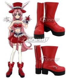 Full Moon o Sagashite Meroko Yui Red Cosplay Shoes