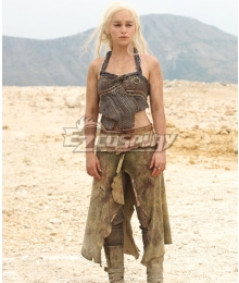 Game of Thrones Daenerys Targaryen Khaleesi of the Great Grass Sea Cosplay Costume