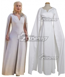 Game Of Thrones Daenerys Targaryen White Dress Cosplay Costume