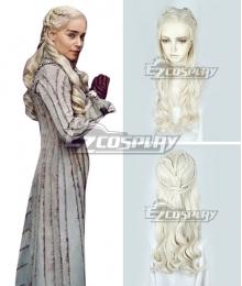 Game Of Thrones Season 8 Daenerys Targaryen Light Golden Cosplay Wig
