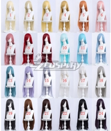 General Cosplay Multicolor Long Straight Wigs 100cm