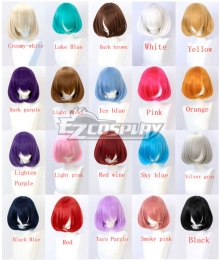 General Multicolor 30cm Short Internal Buckle Cosplay Wig