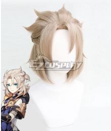 Genshin Impact Albedo White Cosplay Wig