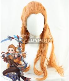 Genshin Impact Aloy Orange Cosplay Wig
