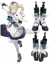 Genshin Impact Barbara White Shoes Cosplay Boots
