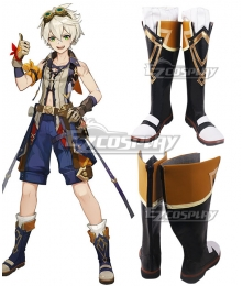 Genshin Impact Bennett Blue Shoes Cosplay Boots