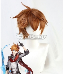Genshin Impact Childe Brown Cosplay Wig
